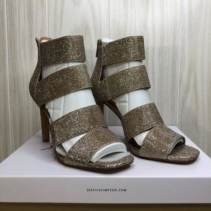 Jessica Simpson Banded Shimmer High Heels size 8